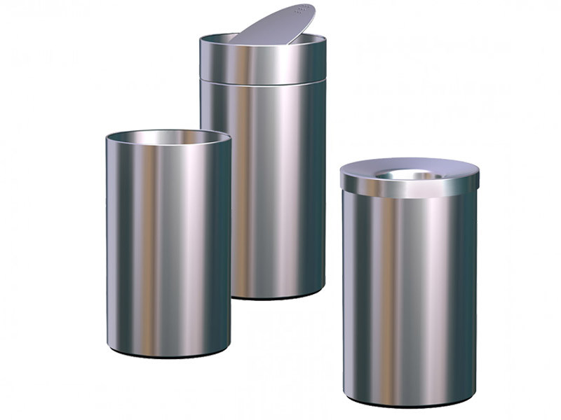 Stainless steel waste paper bin NOX MAGNUM | Waste paper bin by REXITE