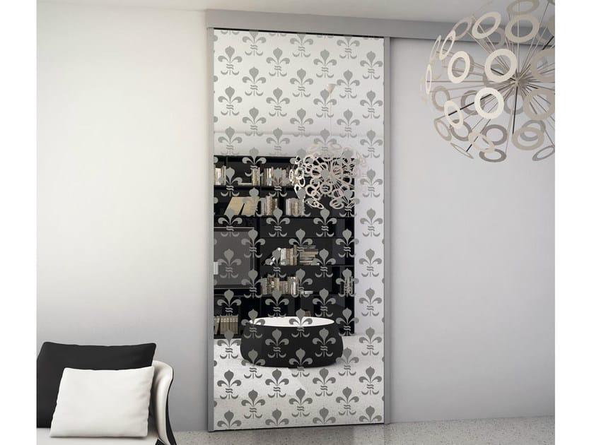 Glass Sliding door with pelmet SINTHESY QUADRA by FOA