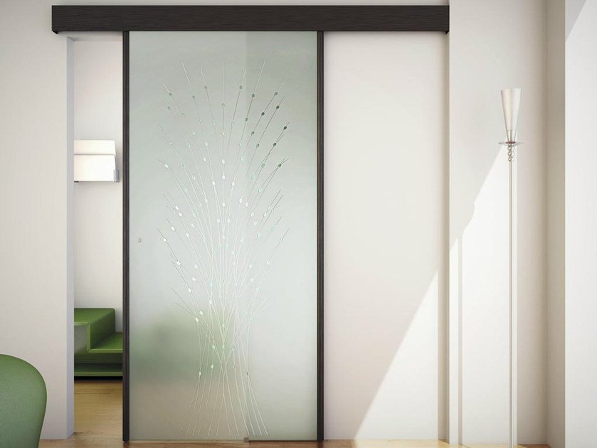 Glass Sliding door with pelmet SINTHESY STYLO by FOA