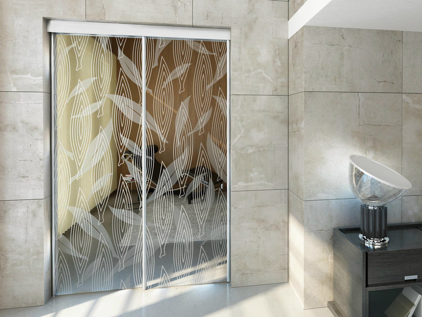 Glass sliding door with pelmet SINTHESY STYLO by FOA