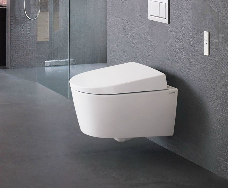 Wc bidet sospeso aquaclean sela by geberit italia design for Architec bidet sospeso