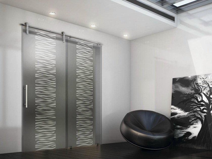 Sliding door with a fixed wing TEKNO UNO by FOA