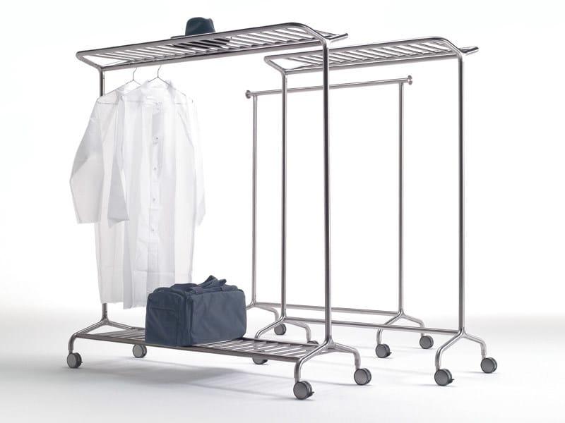 Brushed steel coat rack NOX VESTA by REXITE