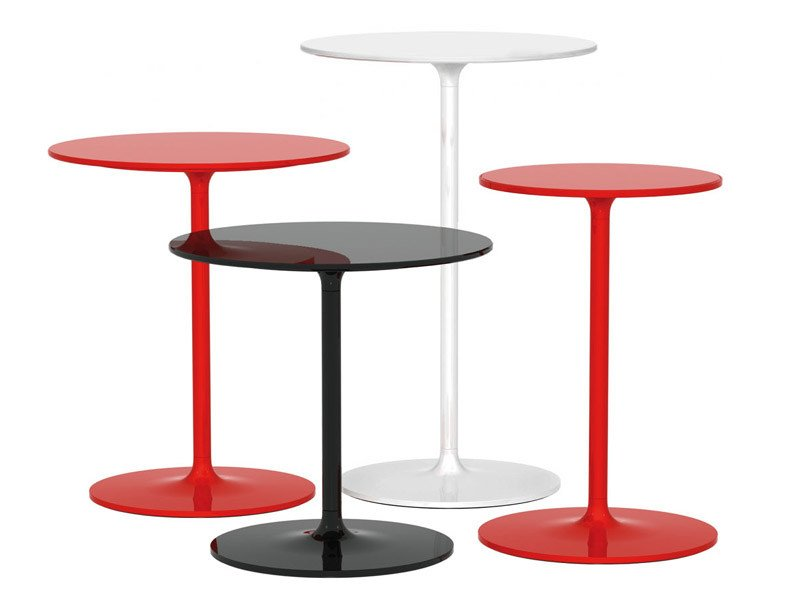 Round technopolymer coffee table POPPY by REXITE