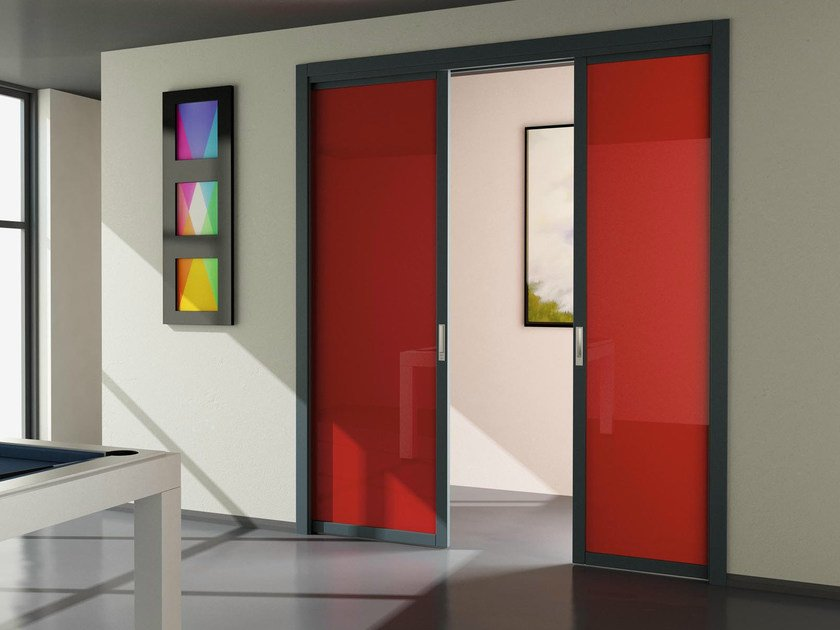 Pocket sliding door FLAT F1 by FOA