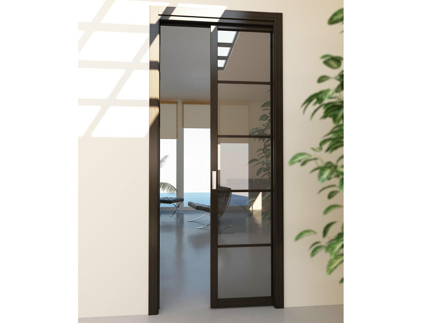 Pocket sliding door FLAT F5 by FOA