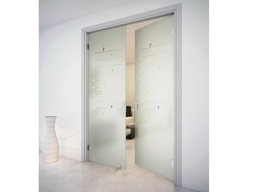 Swing door with jamb SINTHESY SLIVER V1 by FOA