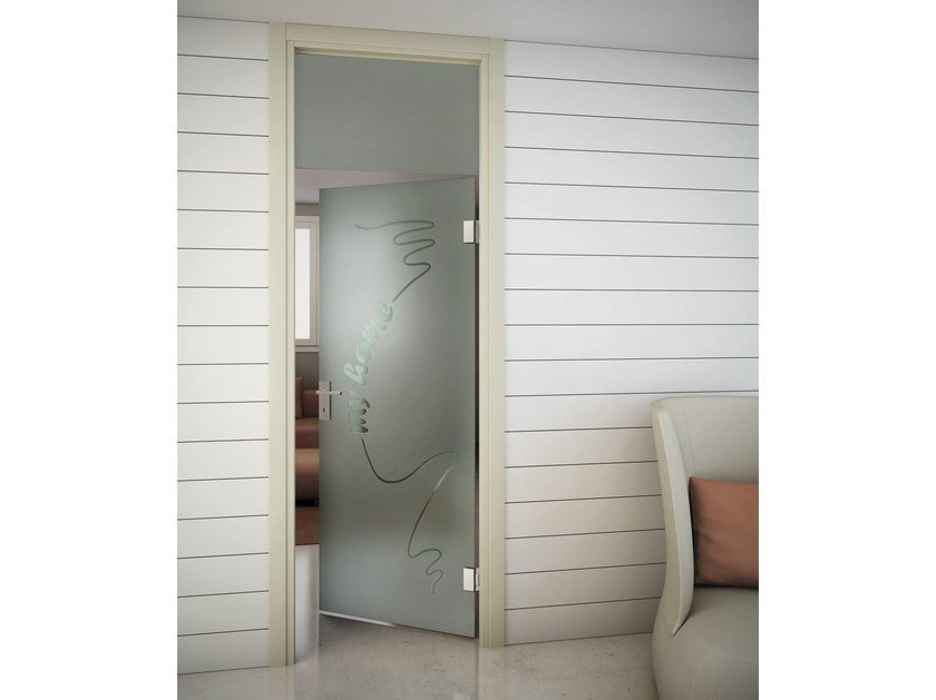 Swing door and transom with jamb SINTHESY SLIVER V1 by FOA