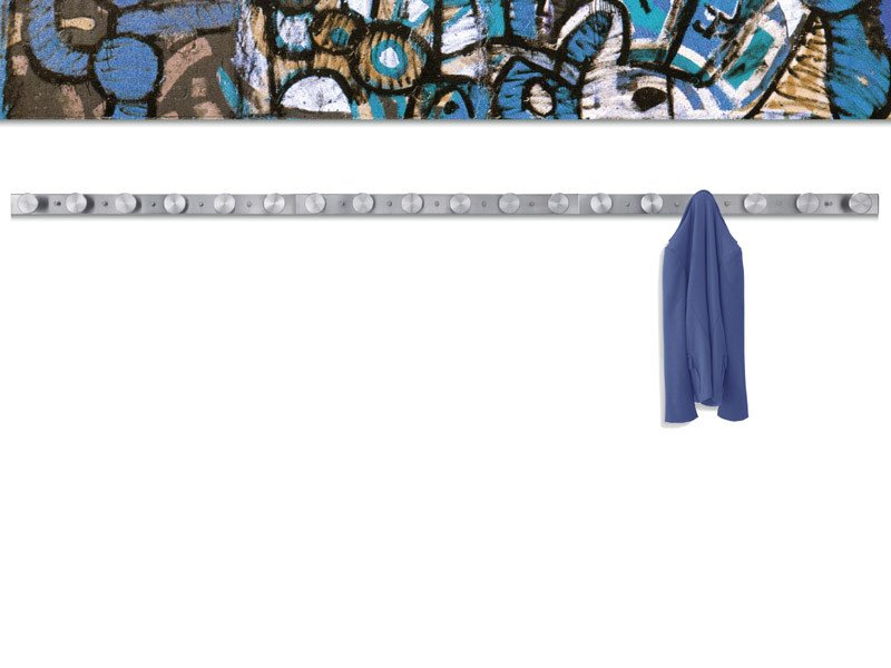 Wall-mounted brushed steel coat rack NOX VESTA WALL by REXITE