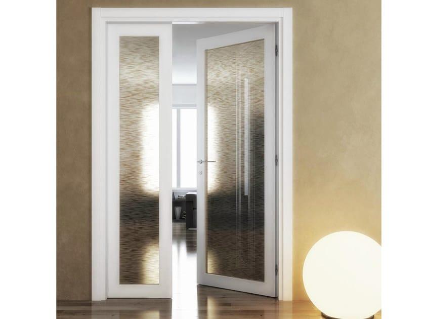 Porta a battente doppia asimmetrica arianna foa for Finestre doppio vetro prezzi