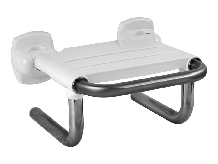 Folding stainless steel shower Seat BAGNOSICURO®-ACCIAIO INOX LUCIDO by Ponte Giulio