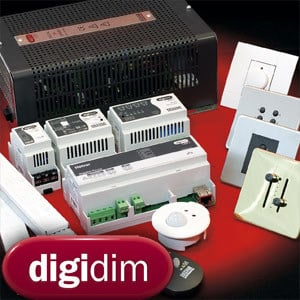 Home automation system for lighting control DIGIDIM Router 905-910 by HELVAR