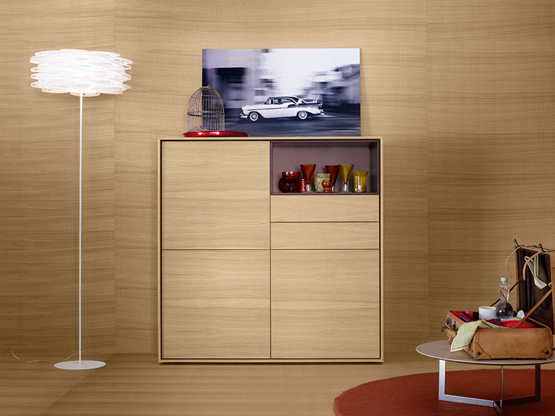 Solid wood highboard AURA S7 by TREKU