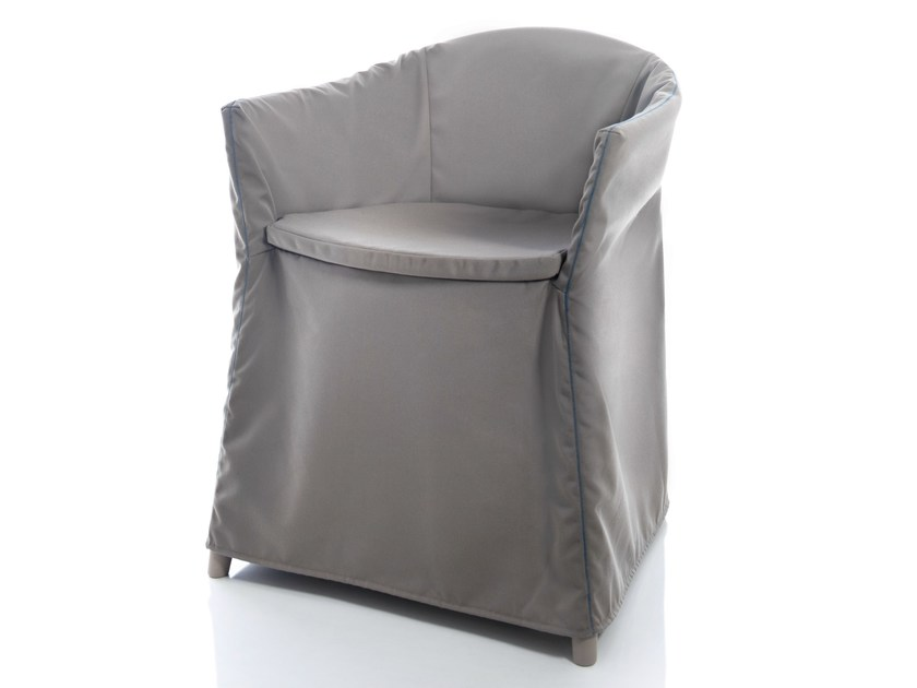 Solid-color technical fabric chair cover JO HOUSSE by ALMA DESIGN