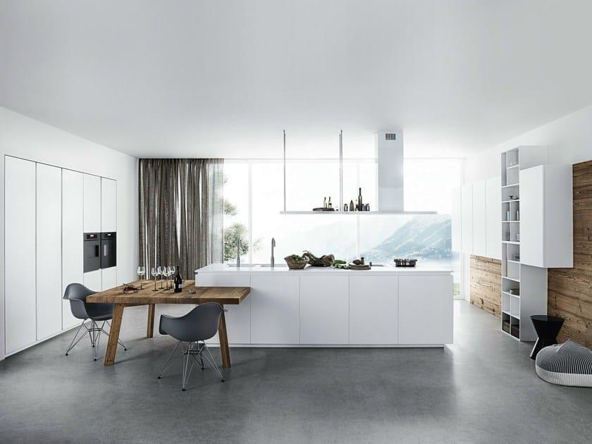 Lackierte Küche Mit Kücheninsel Ohne Griffe Cloe - Composition 1