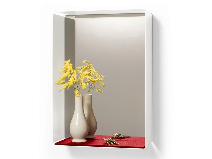 Rectangular wall-mounted mirror MIRROR-BOX by KONSTANTIN SLAWINSKI