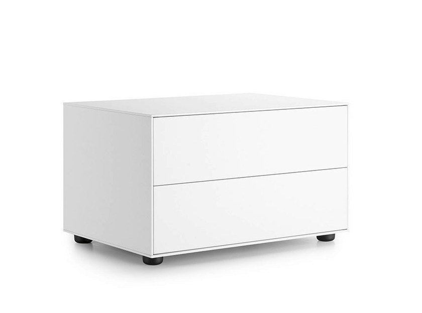 Lacquered bedside table with drawers LAUKI | Lacquered bedside table by TREKU