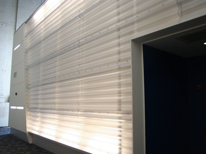 Modular system of corrugated multiwall polycarbonate ARCOPLUS® ONDA by dott.gallina