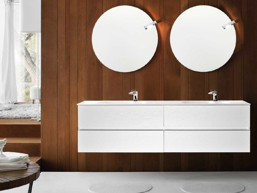 Double vanity unit with drawers 54 by RAB Arredobagno