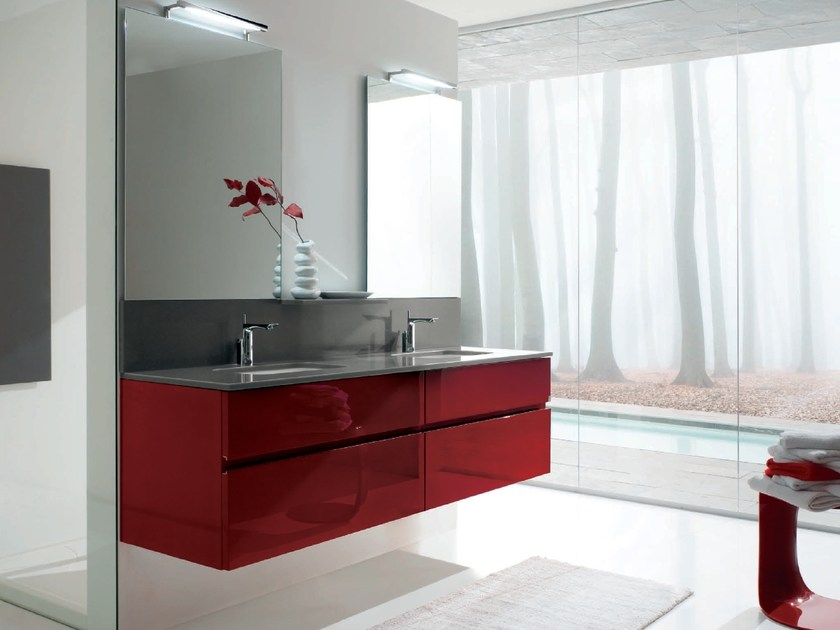 Double vanity unit with drawers AB 7022 by RAB Arredobagno