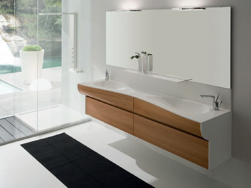 Double vanity unit with drawers AB 7026 by RAB Arredobagno