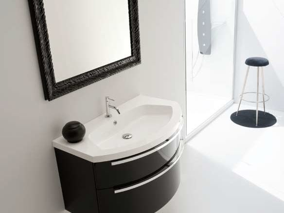 Single vanity unit with drawers AB 225 by RAB Arredobagno