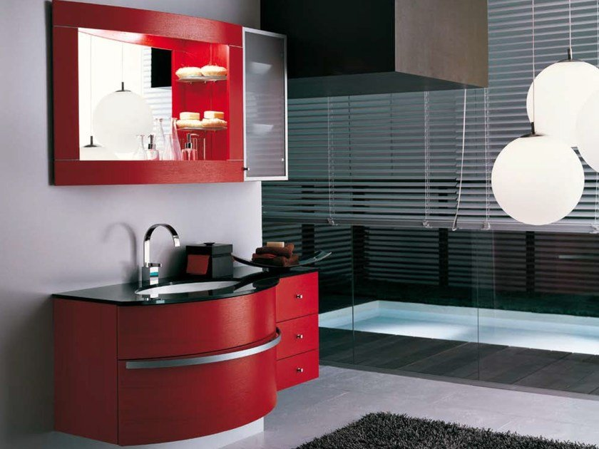 Vanity unit with cabinets AB 508 by RAB Arredobagno