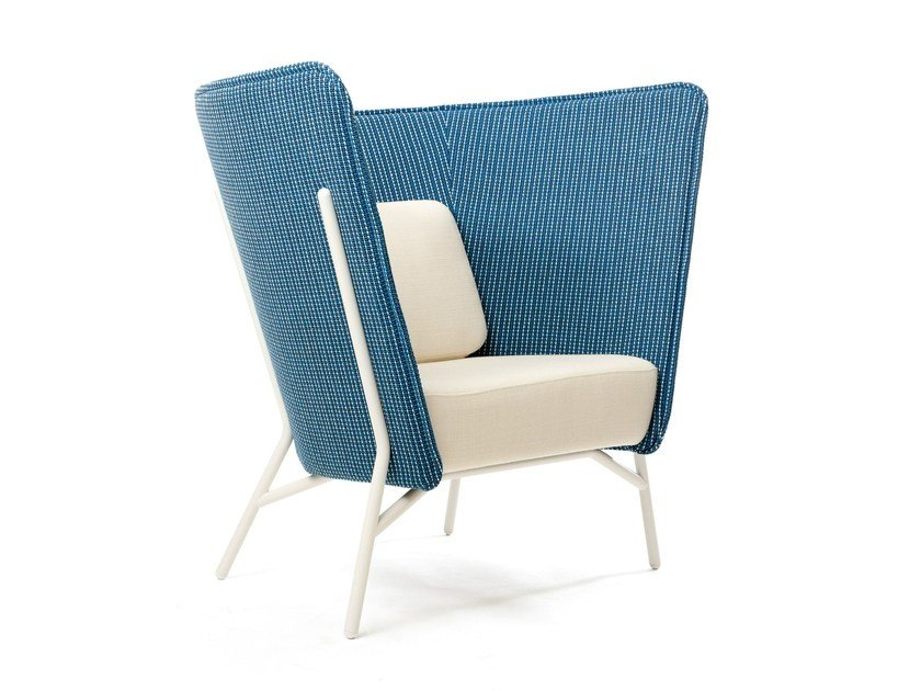 Upholstered easy chair high-back AURA   Easy chair by Inno