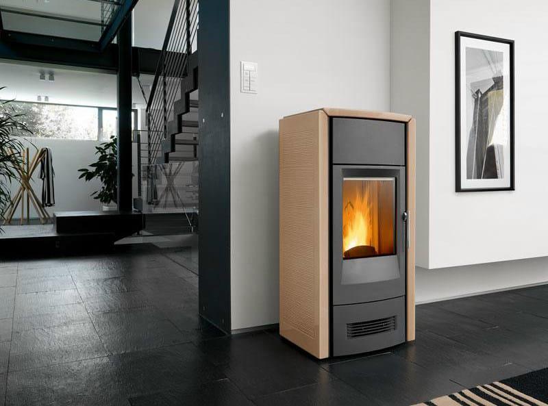 Pellet faïence stove P963 D | Pellet stove by Piazzetta