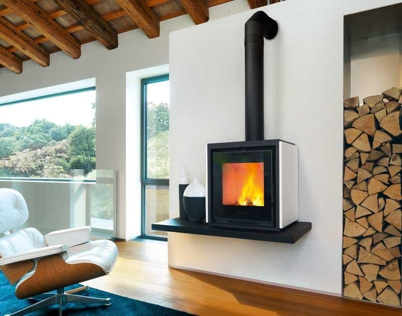 Wood-burning stove QUBE 1 by Piazzetta