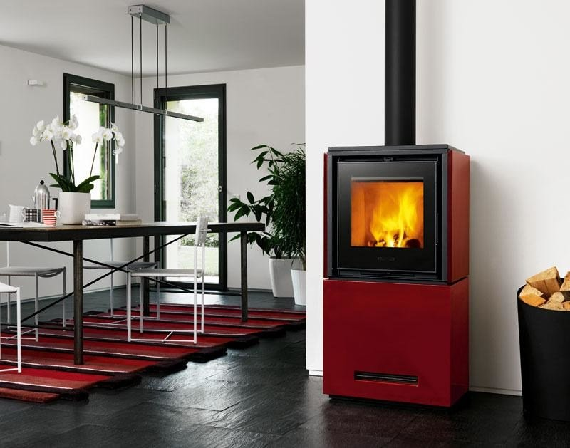 Wood-burning stove QUBE 2 by Piazzetta