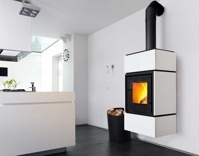Wood-burning stove QUBE 3 by Piazzetta