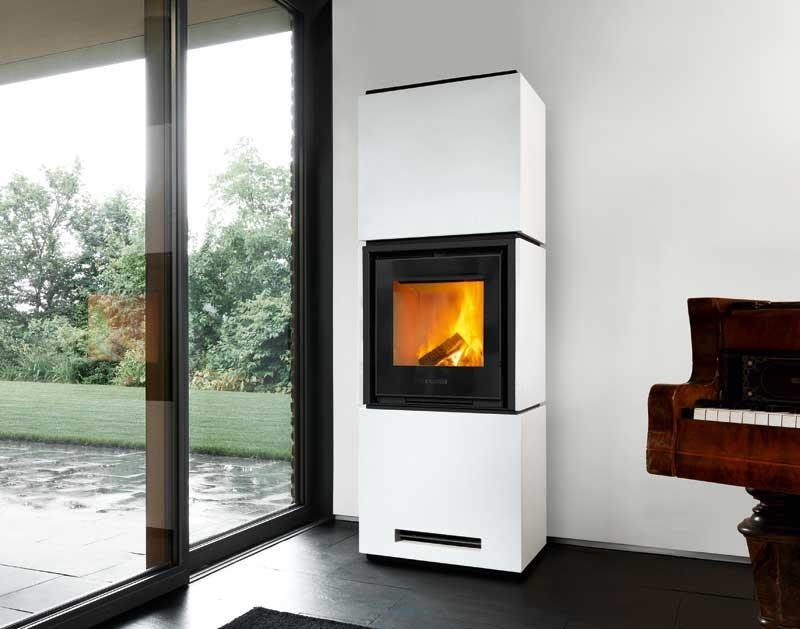 Wood-burning stove QUBE 4 by Piazzetta