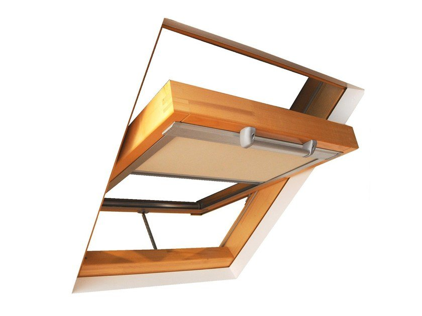 Electric technical fabric skylight shade LUXIN | Electric skylight shade by LUXIN