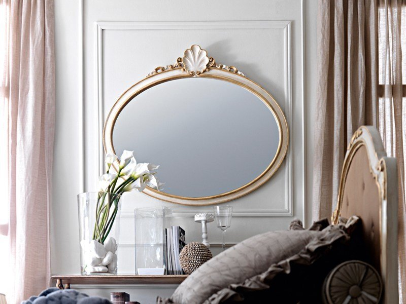 Oval framed mirror 2389 | Mirror by Grifoni Silvano