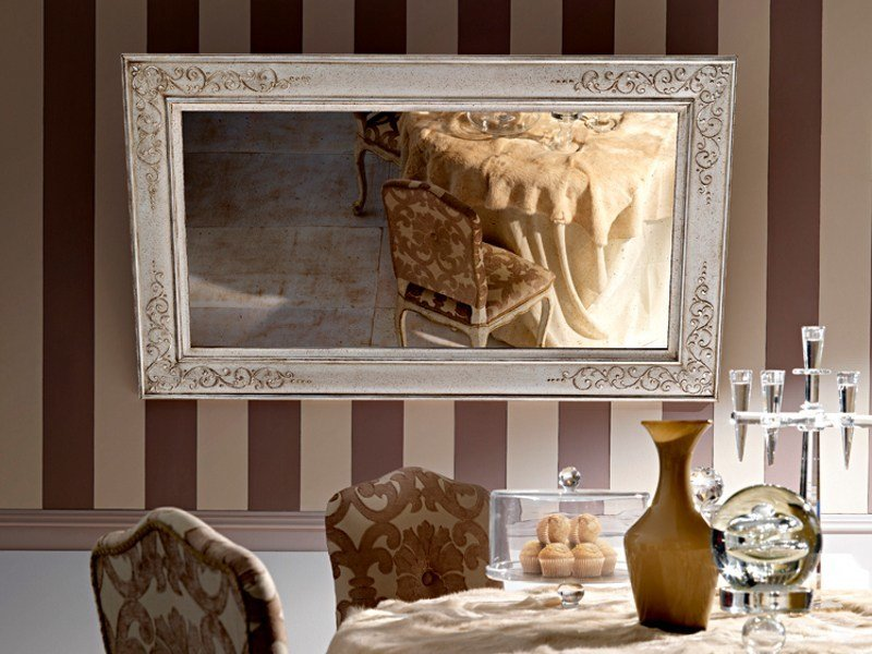 Rectangular wall-mounted mirror 2465 | Mirror by Grifoni Silvano