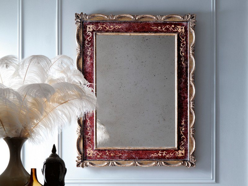Wall-mounted framed mirror 2471 | Mirror by Grifoni Silvano