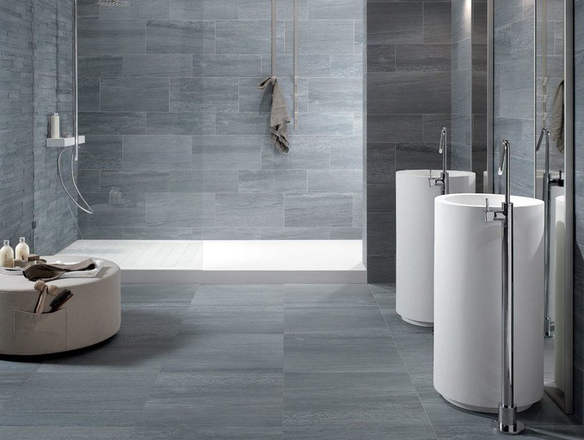 Indoor/outdoor wall/floor tiles PERCORSI EXTRA Pietra di Vals by CERAMICHE KEOPE