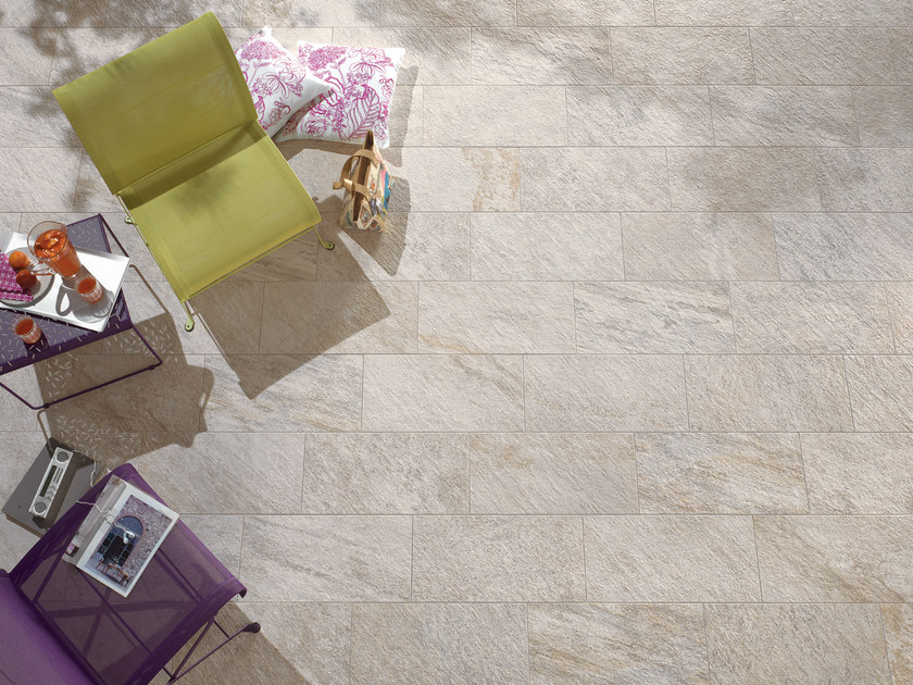 Indoor/outdoor wall/floor tiles PERCORSI QUARTZ WHITE by CERAMICHE KEOPE