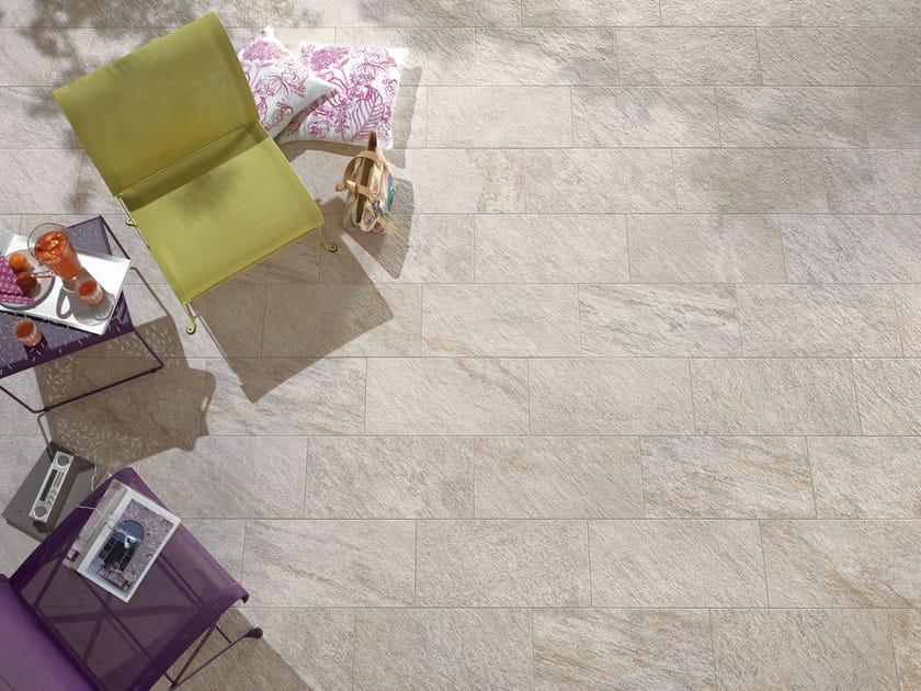 Pavimento/rivestimento per interni ed esterni PERCORSI QUARTZ WHITE by CERAMICHE KEOPE