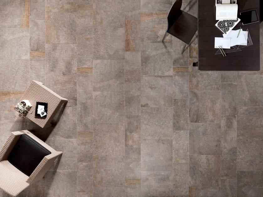 Indoor/outdoor wall/floor tiles PERCORSI SMART Pietra di Lavis by CERAMICHE KEOPE