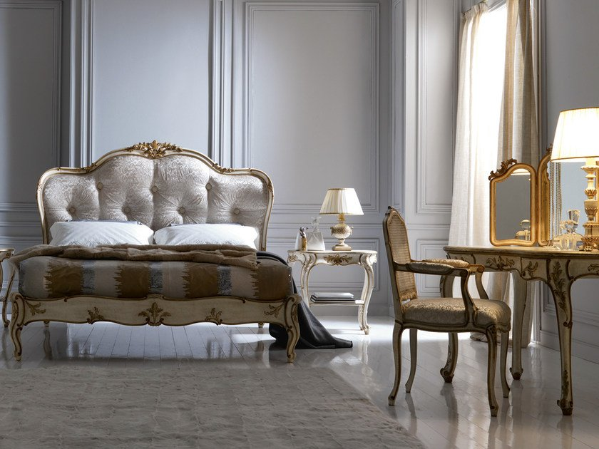 Double bed with tufted headboard 2474 | Double bed by Grifoni Silvano