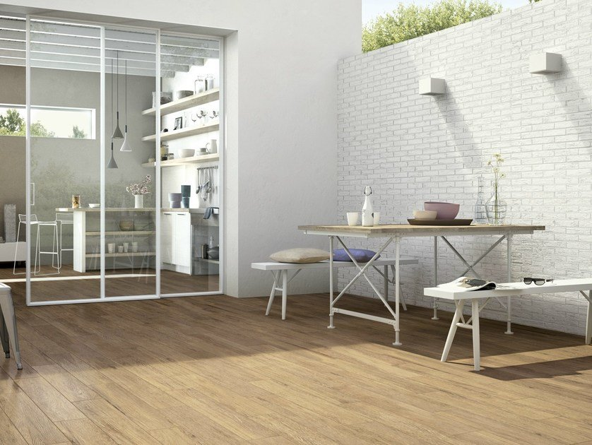 Glazed stoneware flooring with wood effect HARMONY by Ragno