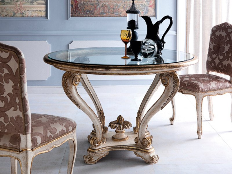 Classic style round table 3622 | Table by Grifoni Silvano