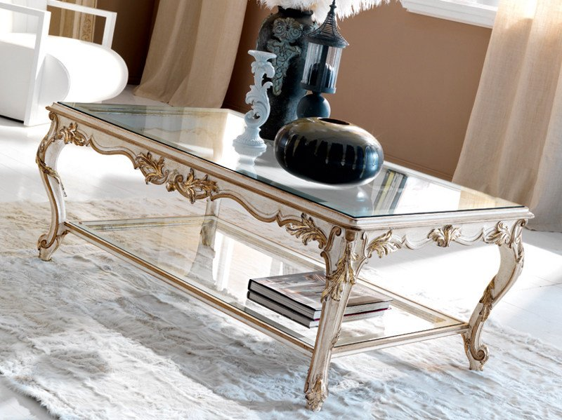 Classic style low rectangular coffee table for living room 3623 | Coffee table by Grifoni Silvano