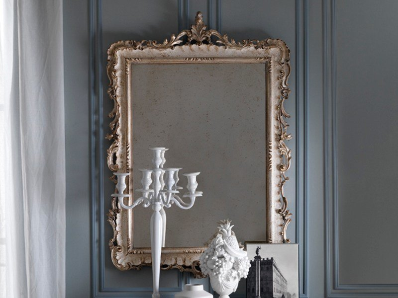 Classic style rectangular framed mirror 2476 | Mirror by Grifoni Silvano