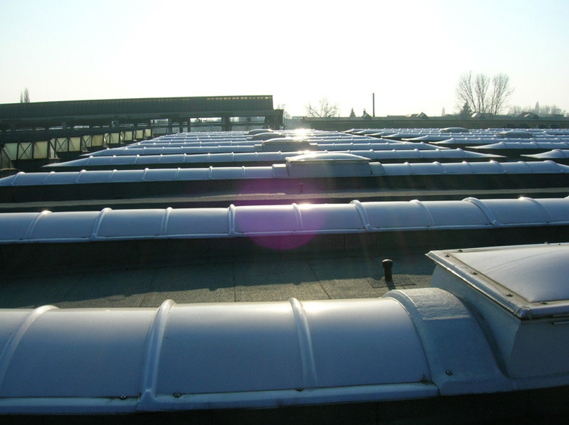 Continuous rooflight Skylights GBA by GBA PLASTIK