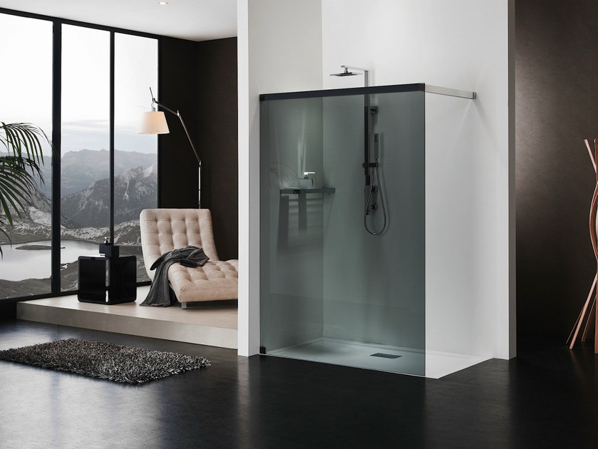 Rectangular crystal shower cabin LIBERO 5000 by Duka