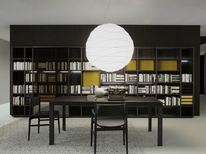 Open wooden bookcase STORAGE   Bookcase by Porro