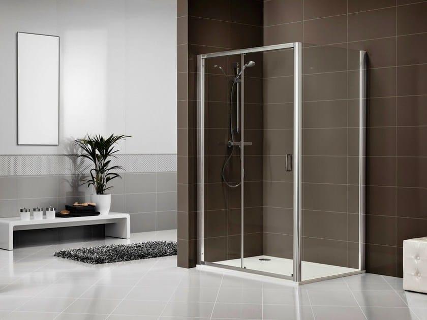 Crystal shower cabin with sliding door DUKESSA-S 3000 by Duka